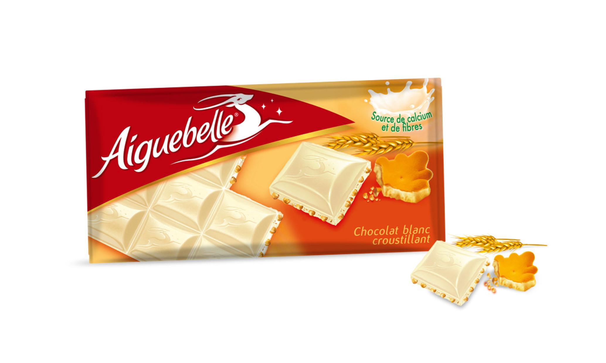 Packaging chocolat blanc croustillant Aiguebelle